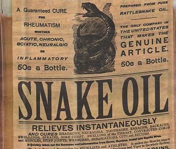 Olej z węża (smake oil)